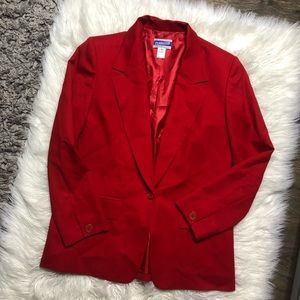 Pendleton Jackets & Coats - Pendleton red wool blazer size 6